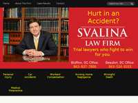 SAMUEL SVALINA website screenshot