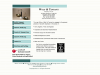 FRANCIS TENNANT website screenshot