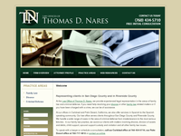THOMAS NARES website screenshot