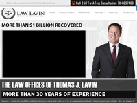 THOMAS LAVIN website screenshot