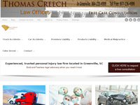 THOMAS CREECH JR website screenshot