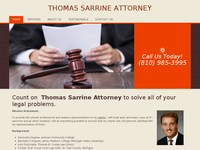 THOMAS SARRINE website screenshot