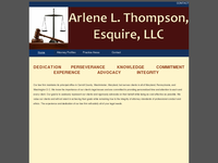 ARLENE THOMPSON website screenshot