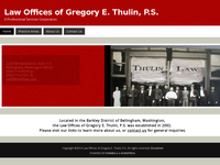 GREGORY THULIN website screenshot