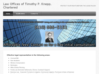 TIMOTHY KNEPP website screenshot