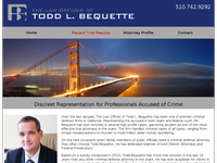 TODD BEQUETTE website screenshot