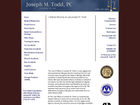 JOSEPH TODD website screenshot
