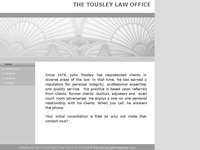 JOHN TOUSLEY website screenshot