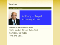 ANTHONY TREPEL website screenshot