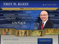 TROY KLEIN website screenshot