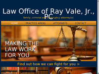 RAYMOND VALE JR website screenshot