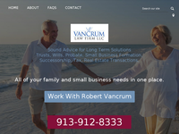 ROBERT VANCRUM website screenshot
