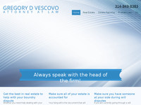 GREGORY VESCOVO website screenshot