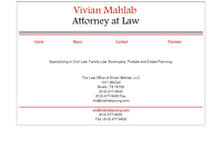 VIVIAN MAHLAB website screenshot