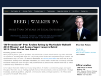 REED WALKER website screenshot