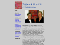 NANCY WALLACE website screenshot