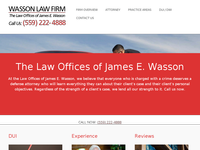 JAMES WASSON website screenshot