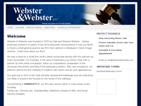 DALE WEBSTER website screenshot