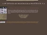 PETER WEINTRAUB website screenshot