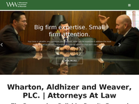 ALDHIZER WHARTON website screenshot