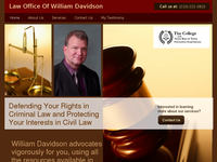 WILLIAM DAVIDSON website screenshot