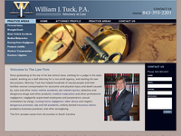 WILLIAM TUCK website screenshot