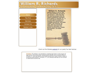 WILLIAM RICHARDS website screenshot