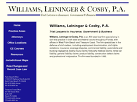 LEININGER WILLIAMS website screenshot