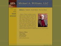 MICHAEL WILLIAMS website screenshot