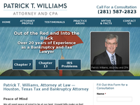 PATRICK WILLIAMS website screenshot