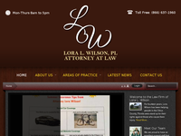 LORA WILSON website screenshot