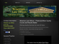 G MICHAEL WISEMAN website screenshot