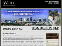 DAVID WOLF website screenshot