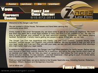 JOE ZANGER website screenshot