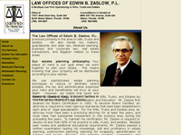 EDWIN ZASLOW website screenshot