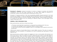 FERNANDO ZAZUETA website screenshot