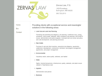 DOMINIQUE ZERVAS website screenshot