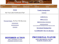 TRICIA WANG website screenshot